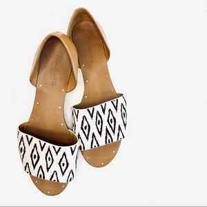 Madewell Bohemian Pattern Flats With Calf Hair